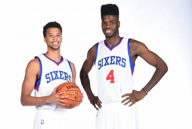 Michael Carter-Williams y Nerlens Noel./ Getty Images