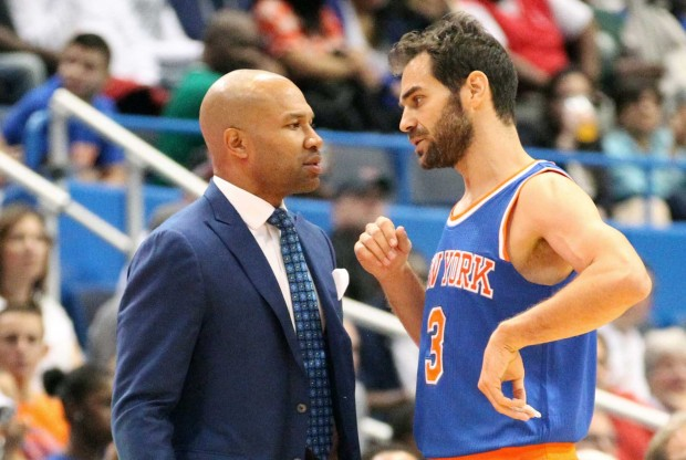 Derek Fisher y José Manuel Calderón./ Getty Images