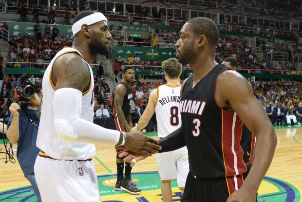 LeBorn James y Dwyane Wade./ Getty Images