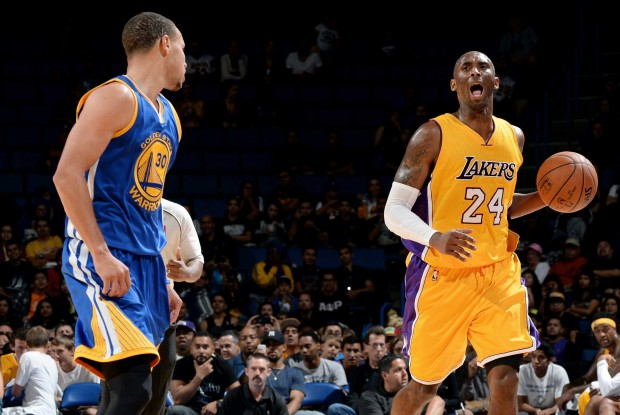 Kobe Bryant y Stephen Curry./ Getty Images