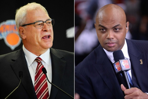 Phil Jackson y Charles Barkley./ Getty Images