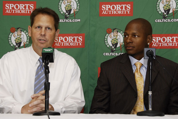 Danny Ainge y Ray Allen / Getty Images