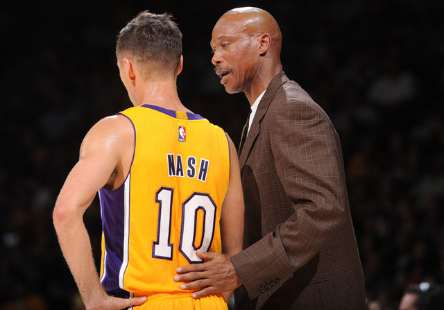 Steve Nash y Byron Scott / Getty Images