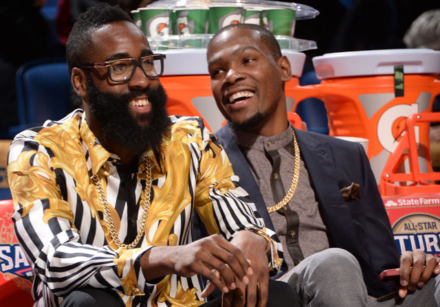 James Harden y Kevin Durant / Getty Images