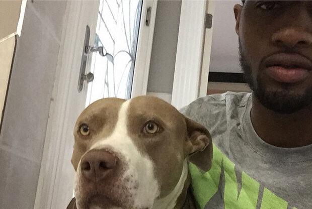 Paul George y su perro