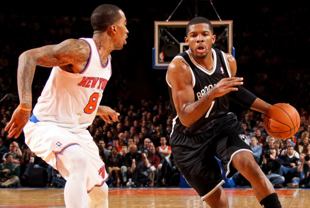 Joe Johnson jugando en el Madison Square Garden./ Getty Images