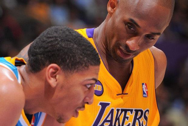 Kobe Bryant y Anthony Davis./ Getty Images