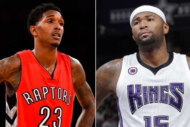 Lou Williams y DeMarcus Cousins./ Getty Images