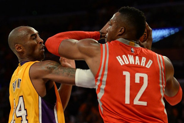 Kobe Bryant y Dwight Howard./ Getty Images