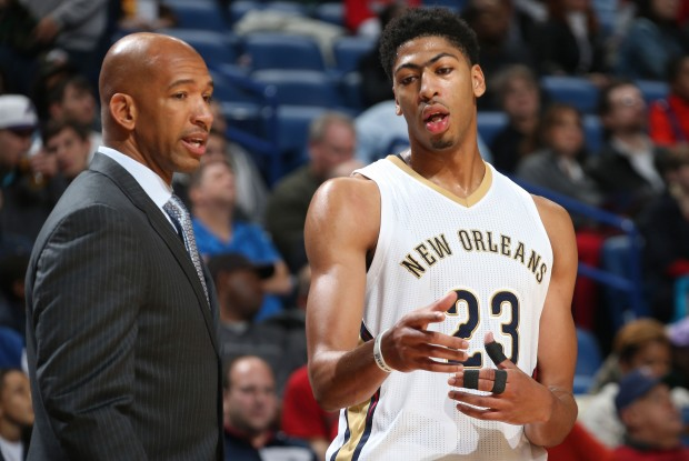 Monty Williams y Anthony Davis./ Getty Images