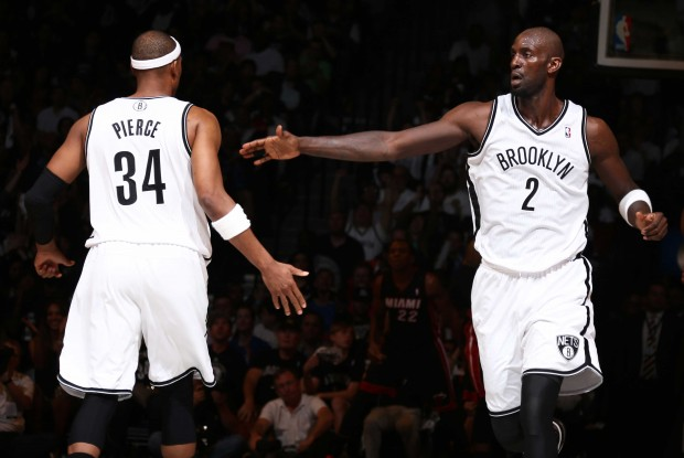 Paul Pierce y Kevin Garnett./ Getty Images