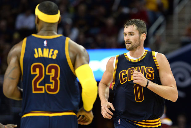 LeBron James y Kevin Love / Getty Images