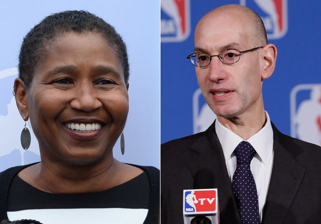 Michele Roberts y Adam Silver / Getty Images