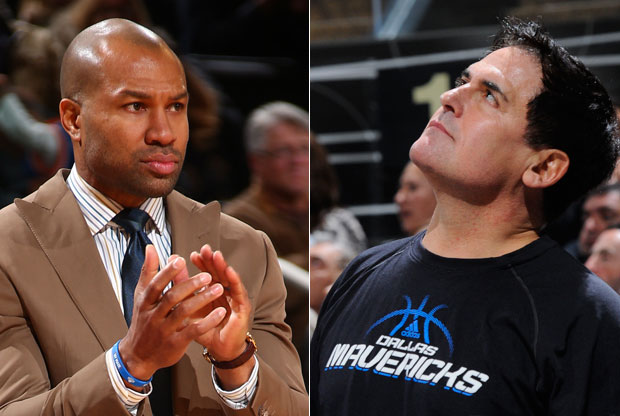 Mark Cuban y Derek Fisher / Getty Images