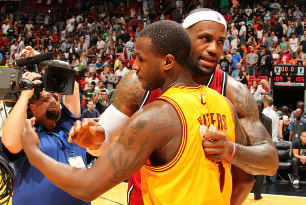 LeBron James y Dion Waiters / Getty Images