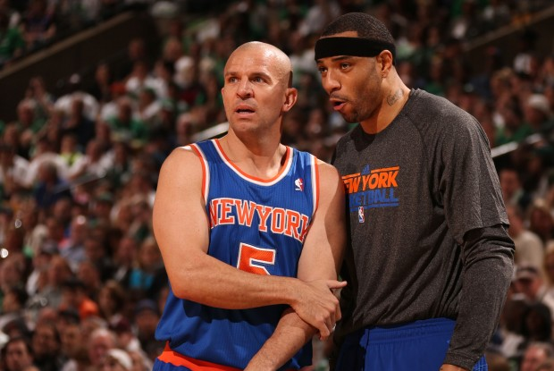 Jason Kidd y Kenyon Martin cuando eran compañeros en New York Knicks./ Getty Images