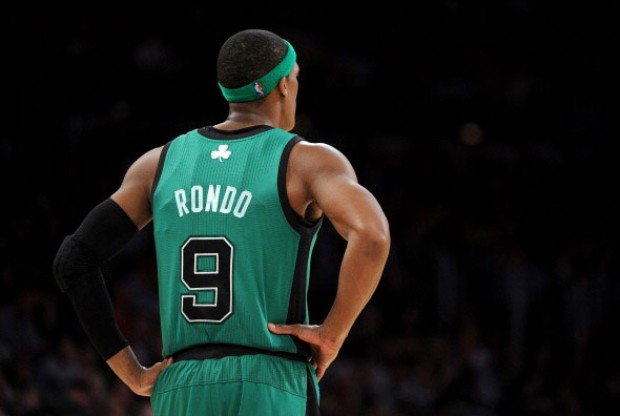 Rajon Rondo con la camiseta de Boston Celtics