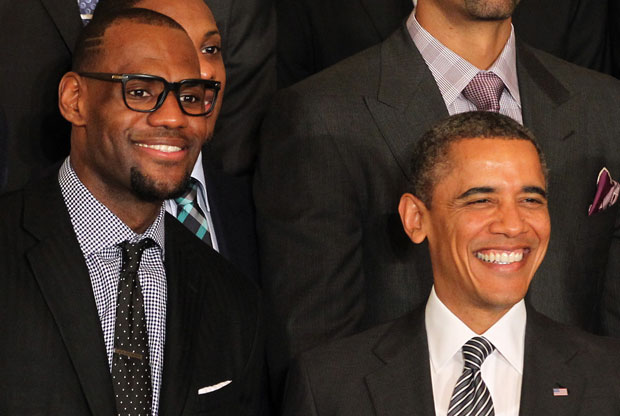 LeBron James y Barack Obama / Getty Images