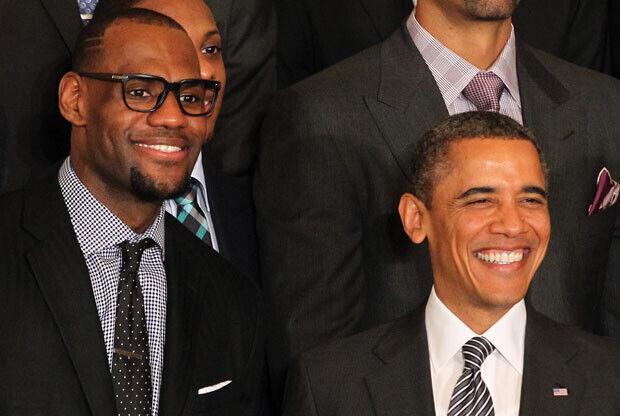 LeBron James y Barack Obama / Getty Images