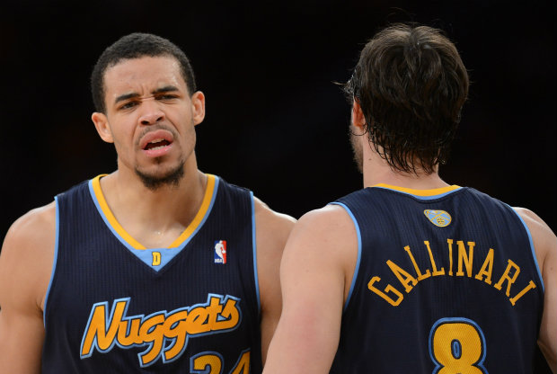 JaVale McGee y Danilo Gallinari./ Getty Images