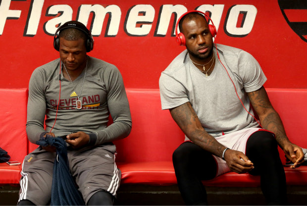 Dion Waiters y LeBron James./ Getty Images