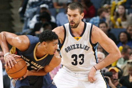 Anthony Davis y Marc Gasol./ Getty Images