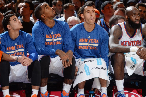 Banquillo de New York Knicks./ Getty Images
