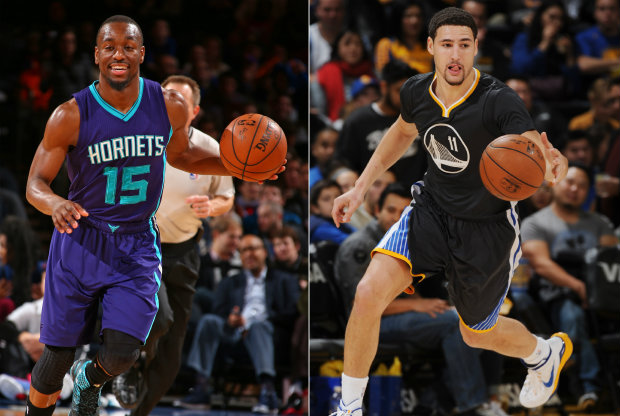 Kemba Walker y Klay Thompson./ Getty Images