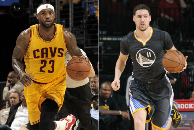 LeBron James y Klay Thompson./ Getty Images