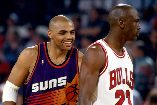 Charles Barkley y Michael Jordan./ Getty Images