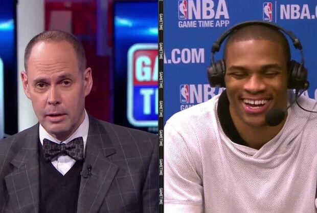 Russell Westbrook en el programa Inside The NBA