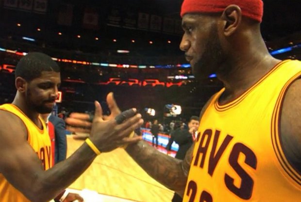 LeBron James y Kyrie Irving