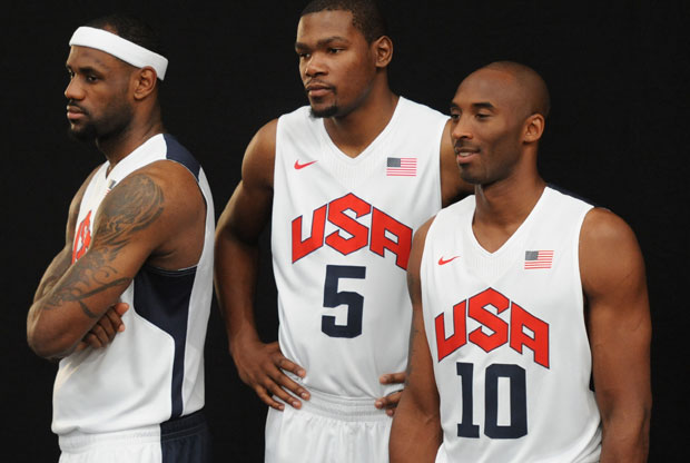 LeBron James, Kevin Durant y Kobe Bryant