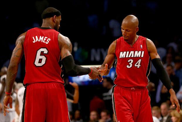 LeBron James y Ray Allen