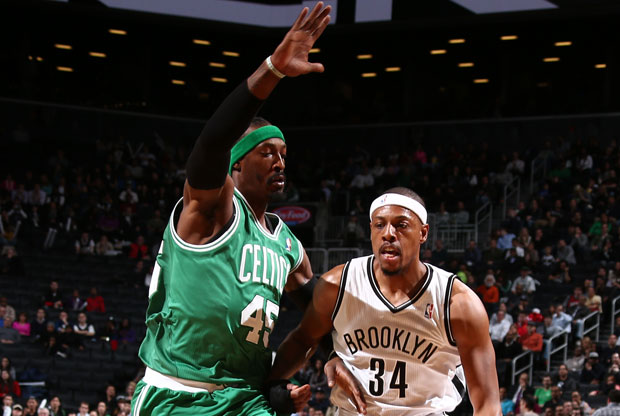 Gerald Wallace y Paul Pierce / Getty Images
