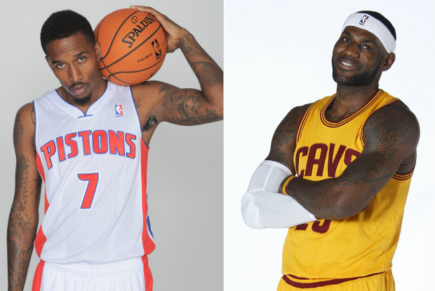 Brandon Jennings y LeBron James./ Getty Images