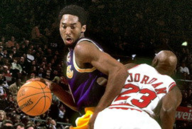 Kobe Bryant vs. Michael Jordan./ Getty Images