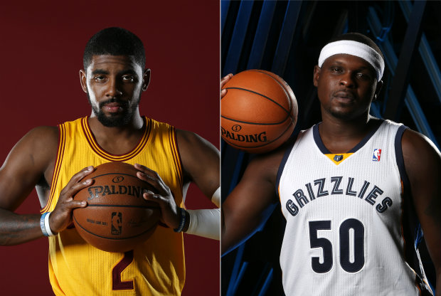 Kyrie Irving y Zach Randolph./ Getty Images