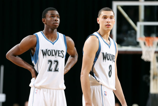 Andrew Wiggins y Zach LaVine./ Getty Images
