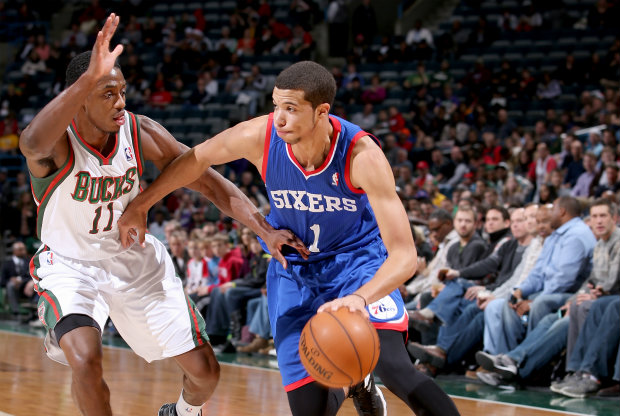 Michael Carter-Williams y Brandon Knight./ Getty Images