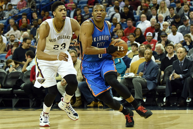 Anthony Davis y Russell Westbrook./ Getty Images