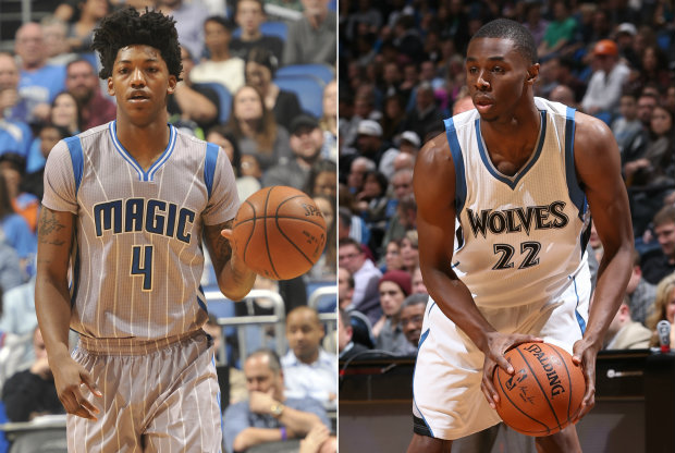 Elfrid Payton y Andrew Wiggins./ Getty Images