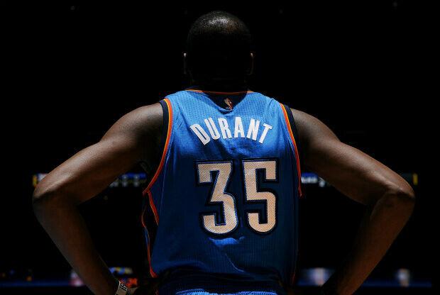 Kevin Durant, jugador de Oklahoma City Thunder