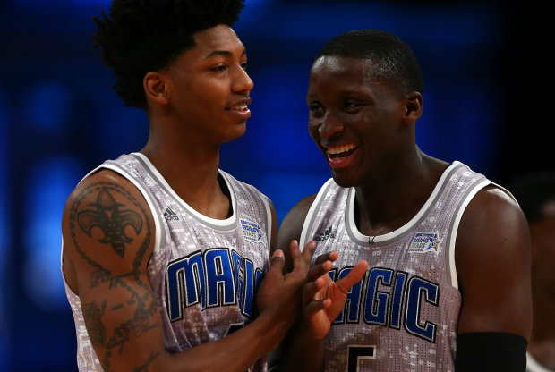 Victor Oladipo y Elfrid Payton./ Getty Images