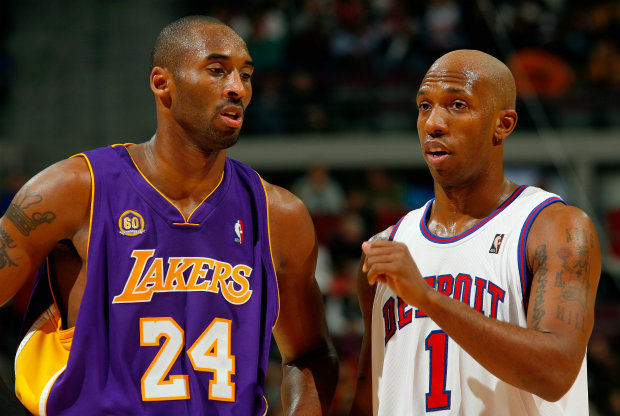Kobe Bryant y Chauncey Billups./ Getty Images