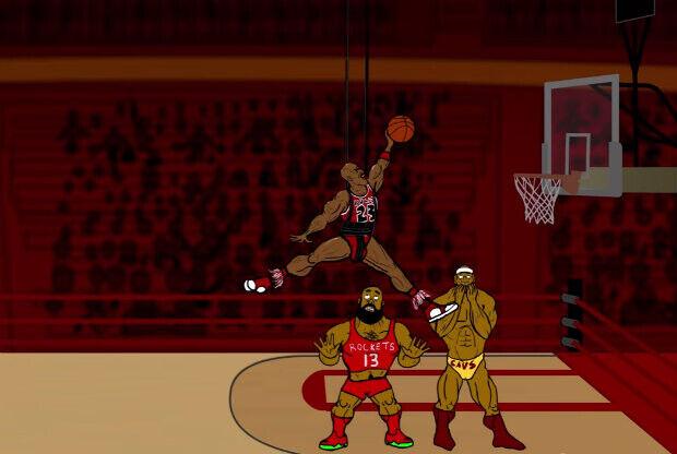 Michael Jordan, James Harden y LeBron James - Bleacher Report