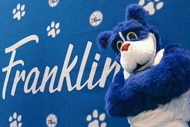Franklin, mascota de Philadelphia 76ers