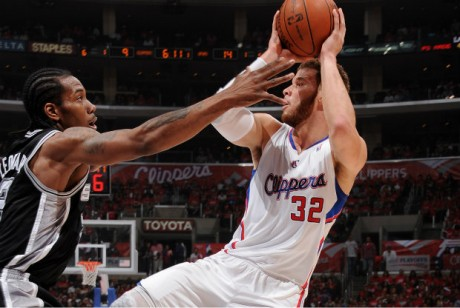 Kawhi Leonard y Blake Griffin./ Getty Images