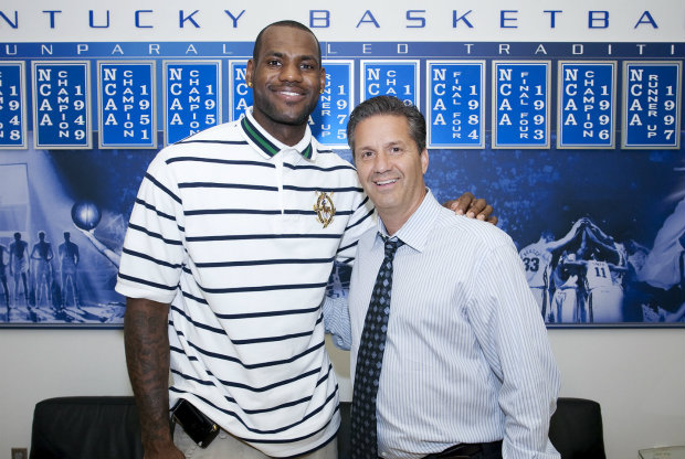 LeBron James y John Calipari