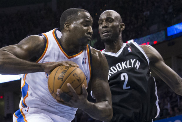 Kevin Garnett y Kendrick Perkins./ Getty Images